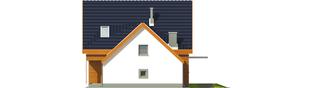 Projekt domu Fabrycja G1 - elewacja prawa