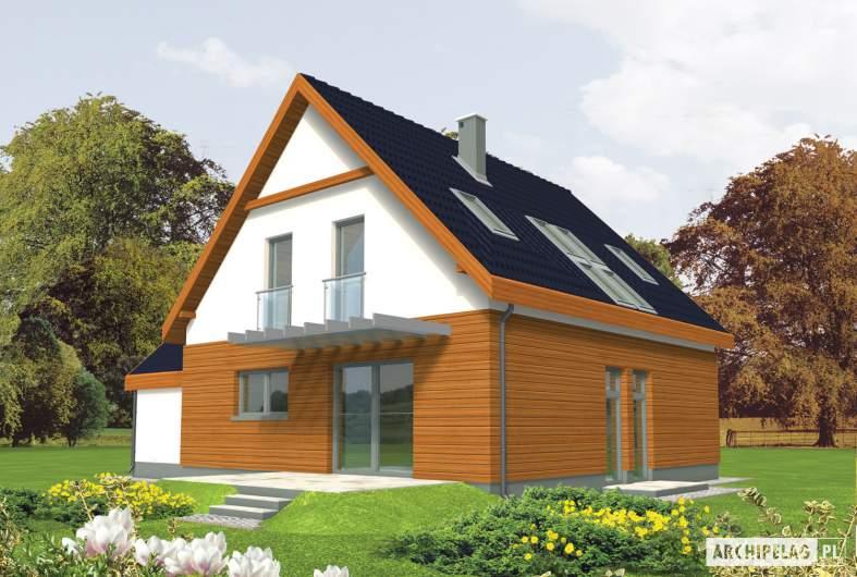 Projekt domu Fabrycja G1 - wizualizacja ogrodowa