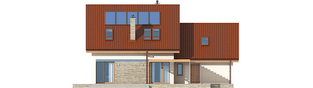Projekt domu Leosia II G2 ENERGO - elewacja tylna