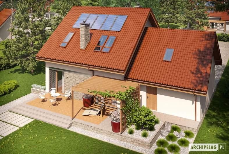 Projekt domu Leosia II G2 ENERGO - widok z góry