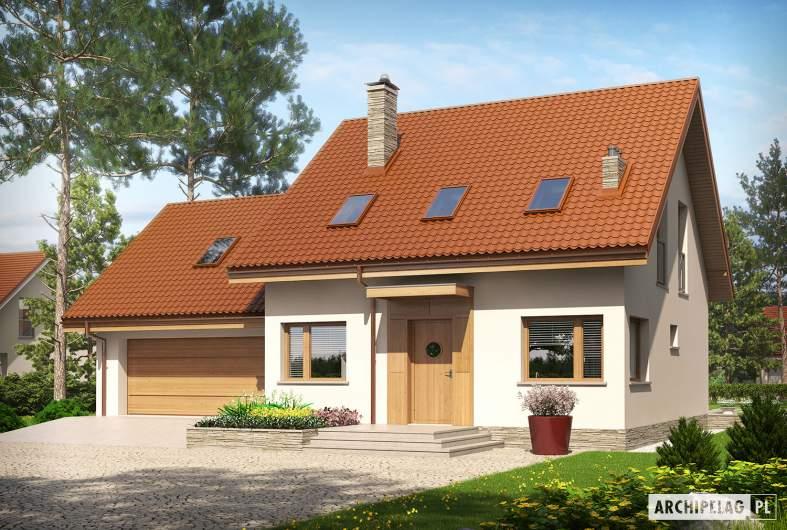 Projekt domu Leosia II G2 ENERGO - wizualizacja frontowa