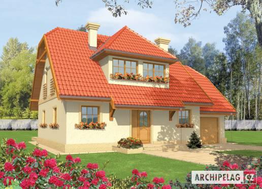 Projekt rodinného domu - Balbínka  (s garáží)