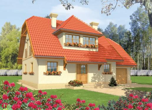 Mājas projekts - Balbinka (ar garāžu)