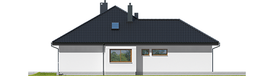 Astrid G2 - Projekt domu Astrid G2 - elewacja lewa