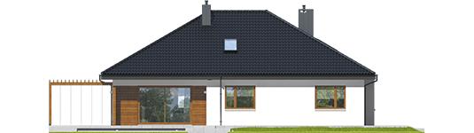 Astrid G2 - Projekt domu Astrid G2 - elewacja tylna
