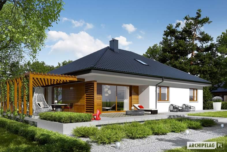 Projekt domu Astrid G2 - wizualizacja ogrodowa