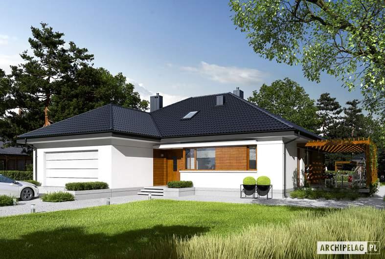 Projekt domu Astrid G2 - wizualizacja frontowa