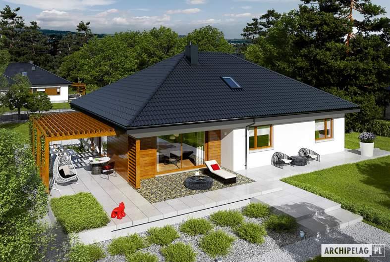 Projekt domu Astrid G2 - widok z góry