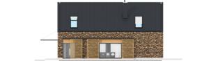 Projekt domu EX 15 II ENERGO PLUS - elewacja prawa