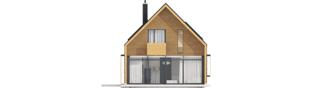 Projekt domu EX 15 II ENERGO PLUS - elewacja tylna