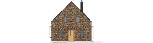 Projekt domu EX 15 II ENERGO PLUS - elewacja frontowa