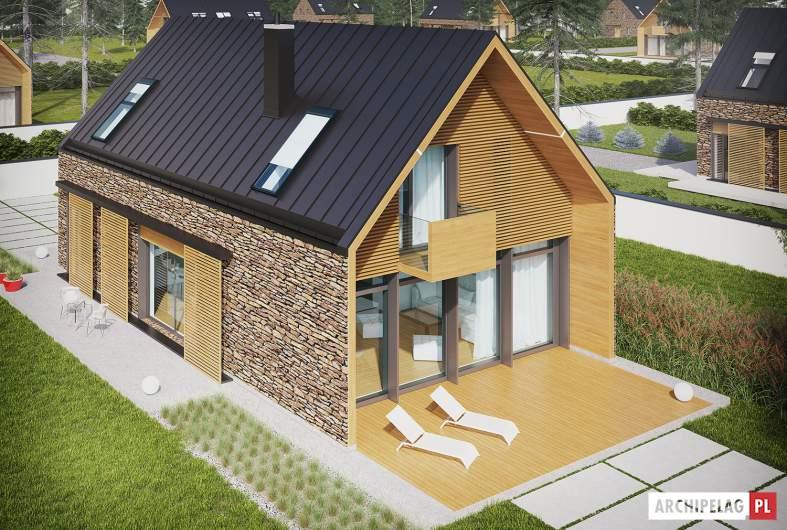 Projekt domu EX 15 II - widok z góry