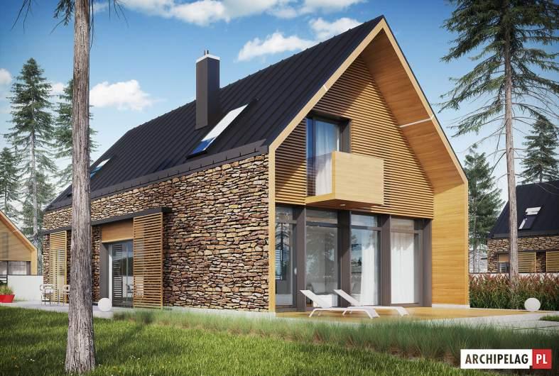 Projekt domu EX 15 II - wizualizacja ogrodowa