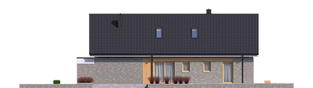 Projekt domu Daniel IV - elewacja prawa