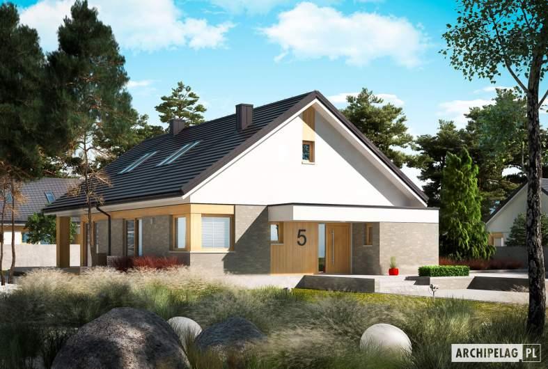 Projekt domu Daniel IV - wizualizacja frontowa