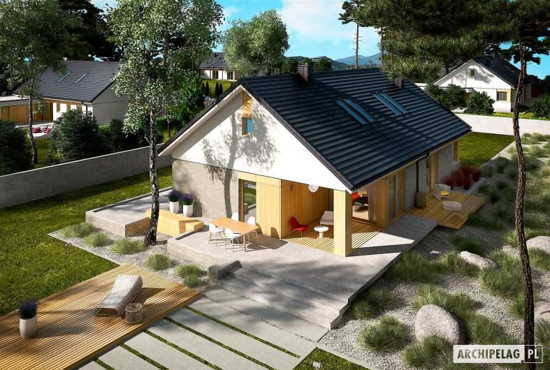 Projekt domu Daniel IV - widok z góry