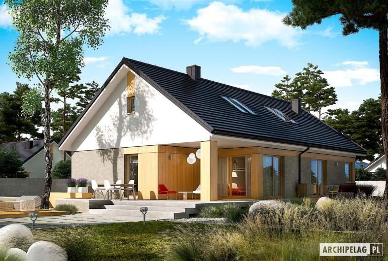 Projekt domu Daniel IV - wizualizacja ogrodowa