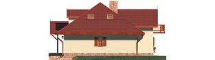 Projekt domu Kasia G1 - elewacja prawa