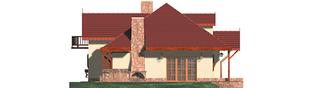 Projekt domu Kasia G1 - elewacja lewa