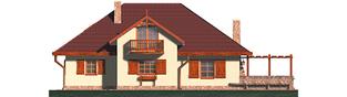Projekt domu Kasia G1 - elewacja tylna