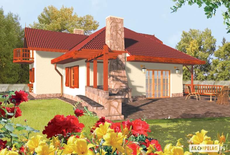 Projekt domu Kasia G1 - wizualizacja ogrodowa