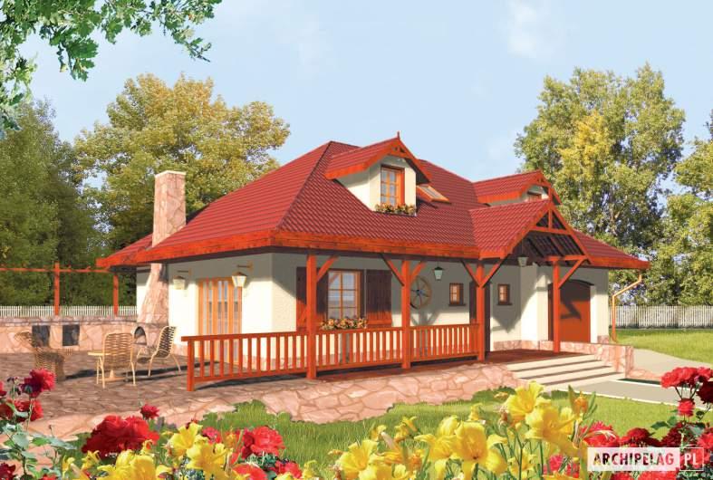 Projekt domu Kasia G1 - wizualizacja frontowa
