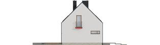 Projekt domu E11 ECONOMIC - elewacja lewa