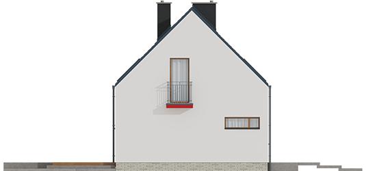 E2 ECONOMIC I A++ - Projekt domu E11 ECONOMIC - elewacja lewa