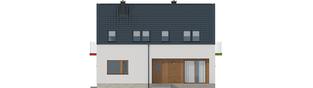 Projekt domu E11 ECONOMIC - elewacja frontowa