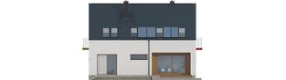 Projekt domu E11 ECONOMIC - elewacja tylna