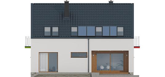 E2 ECONOMIC I A++ - Projekt domu E11 ECONOMIC - elewacja tylna