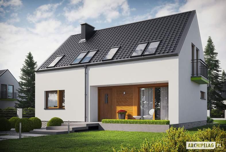 Projekt domu E11 ECONOMIC - wizualizacja frontowa