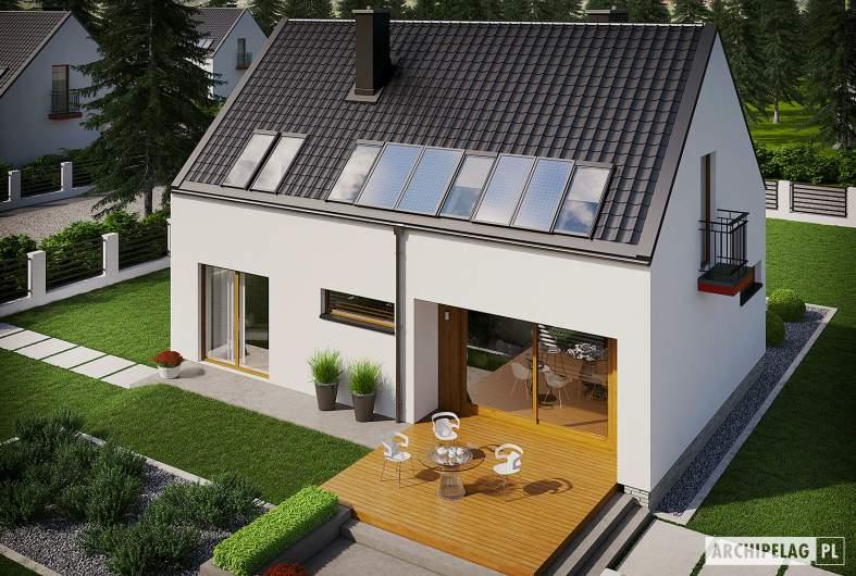 Projekt domu E11 ECONOMIC - widok z góry