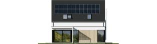 Projekt domu Mini 13 PLUS - elewacja tylna