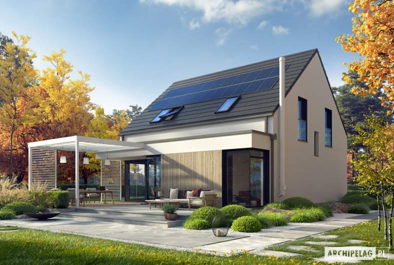 Projekt domu Mini 13 PLUS - wizualizacja ogrodowa