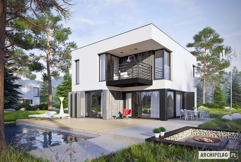 Projekt domu EX 2 ENERGO PLUS reco - wizualizacja ogrodowa