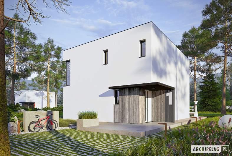 Projekt domu EX 2 ENERGO PLUS reco - wizualizacja frontowa