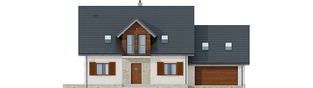 Projekt domu Amaranta G2 MULTI-COMFORT - elewacja frontowa