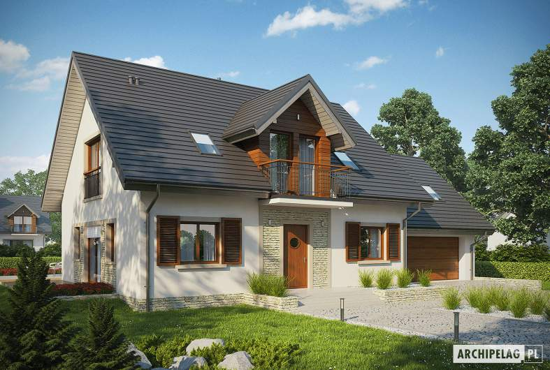 Projekt domu Amaranta G2 MULTI-COMFORT - wizualizacja frontowa