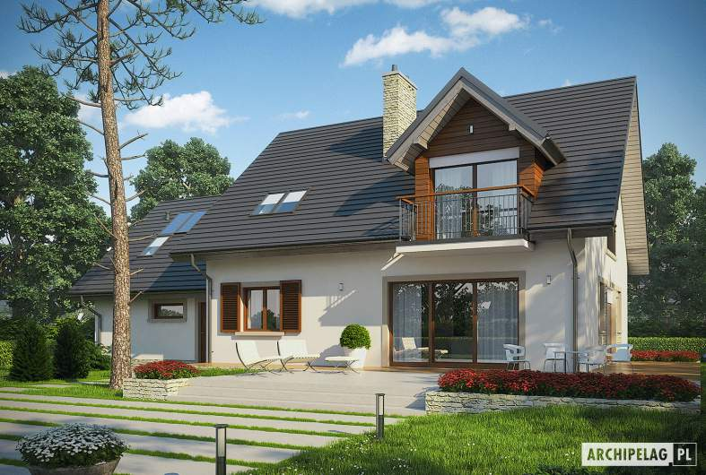Projekt domu Amaranta G2 MULTI-COMFORT - wizualizacja ogrodowa