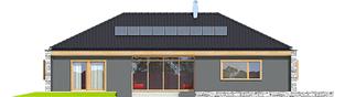 Projekt domu EX 8 II G2 (wersja D) ENERGO PLUS - elewacja tylna
