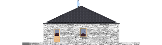 Екс 8 ІІ (Г2, версія Г, Енерго) - Projekt domu EX 8 II G2 (wersja D) - elewacja lewa