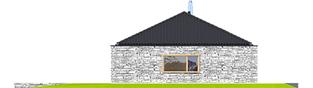 Projekt domu EX 8 II G2 (wersja D) ENERGO PLUS - elewacja prawa
