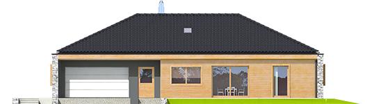 Екс 8 ІІ (Г2, версія Г, Енерго) - Projekt domu EX 8 II G2 (wersja D) - elewacja frontowa