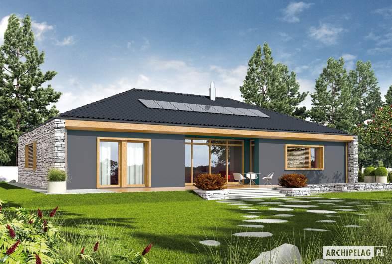 Projekt domu EX 8 II G2 (wersja D) - wizualizacja ogodowa