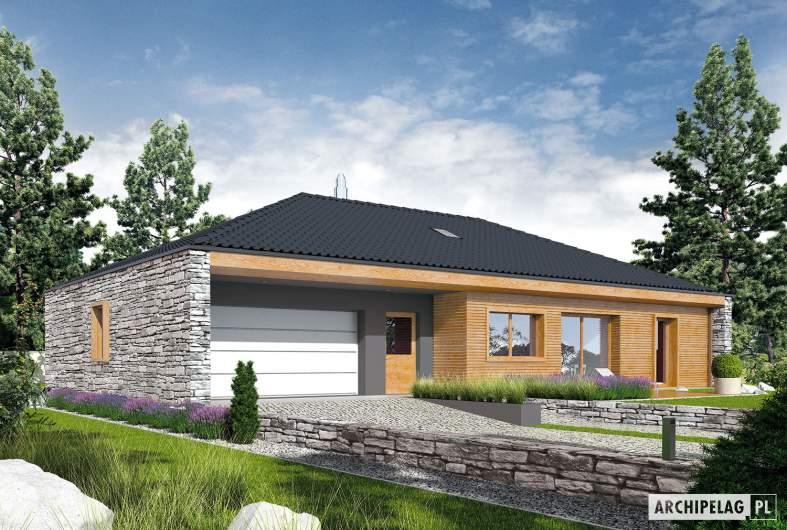 Projekt domu EX 8 II G2 (wersja D) - wizualizacja frontowa