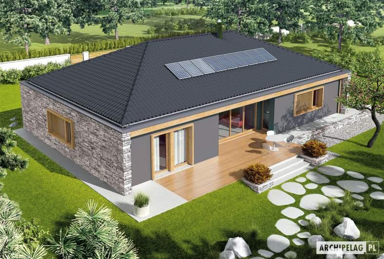 Projekt domu EX 8 II G2 (wersja D) - widok z góry