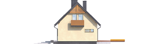 Projekt domu E11 III ECONOMIC - elewacja prawa