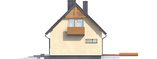 E11 III ECONOMIC - Projekt domu E11 III ECONOMIC - elewacja prawa