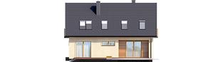 Projekt domu E11 III ECONOMIC - elewacja tylna